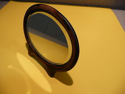 Antique Vintage Oval Beveled Glass Wooden Vanity Mirror, Stand Alone