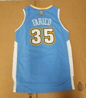 Adidas Denver Nuggets Kenneth Faried Nba Authentic Blue Youth s Jersey New  Wt b9c44c6c1