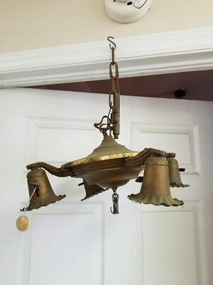 Antique Brass Hanging Chandelier 2