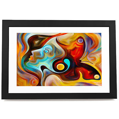 AB1725 Colourful Music Cool Modern Abstract Framed Wall Art Large Picture Prints