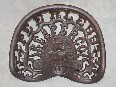 Antique Style Cast Iron Peerless Reaper Co Canton O. Tractor Implement Seat Farm