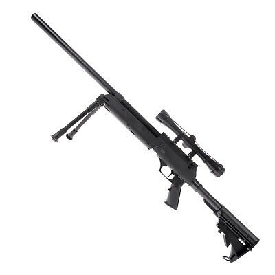 Tango T96 Spring Sniper Rifle Set, Black