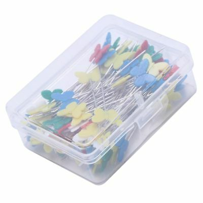 100pcs/set Patchwork Pins Flower Button Head Pins DIY Quilting Tool Sewing I5G2