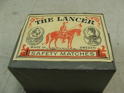 Full Case 10 boxes Safety Matches made in Sweden by The Lancer