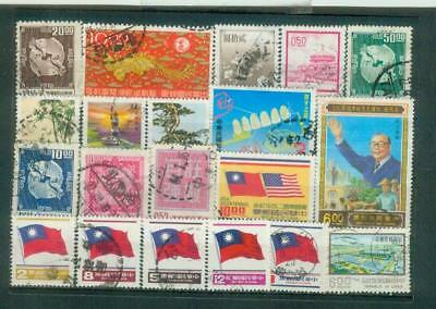 Lot Briefmarken aus Taiwan