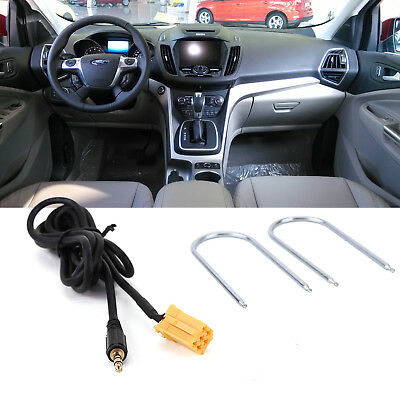 For Fiat Grande Punto AUX input 3.5mm jack lead cable adapter With Radio Keys FD