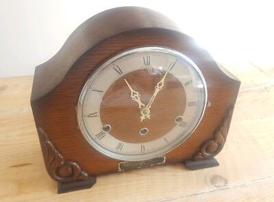 Perivale 'Bentima' mantle clock WITH Westminster chimes | Vintage Art Deco