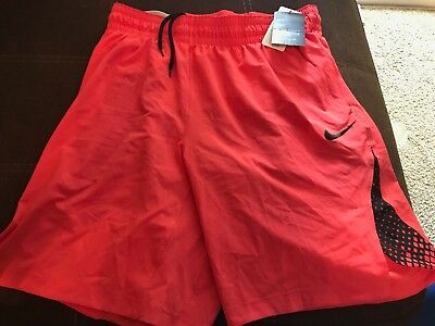 8ee55a00889f NIKE Dri-Fit Basketball Training Shorts - Red Black Mens Size Large