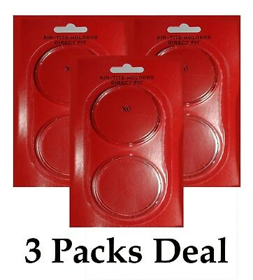 AirTite Direct Fit Coin Holder Capsules Individual Retail Pkg Model H34 Qty 3