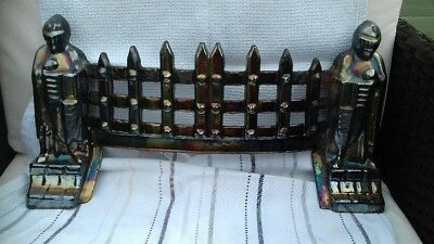 """Vintage16"""" Exton Cast Iron Fire place front fret 1960/70's lovely finish"""