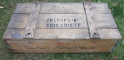 antique Gin wooden crate