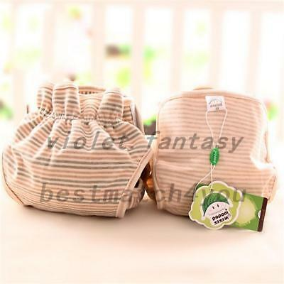 Organic Cotton Baby Diapers Leak-Proof Waterproof Natural Color Cloth Nappies AU
