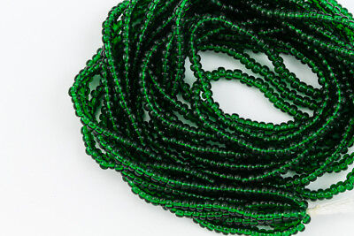11/0 Transparent Evergeen Czech Seed Bead (10 Gm, Hank, 1/2 Kilo) #CSG089