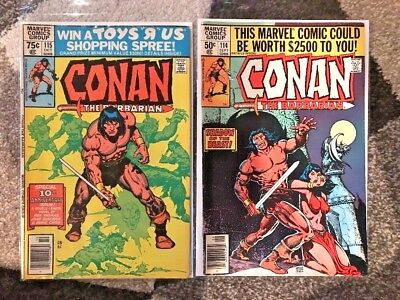 Lot Of 7 Issues Of Marvel's Conan The Barbarian