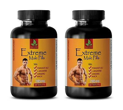 sport supplements - EXTREME MALE PILLS 2185mg - ginseng capsules - 2 Bottles