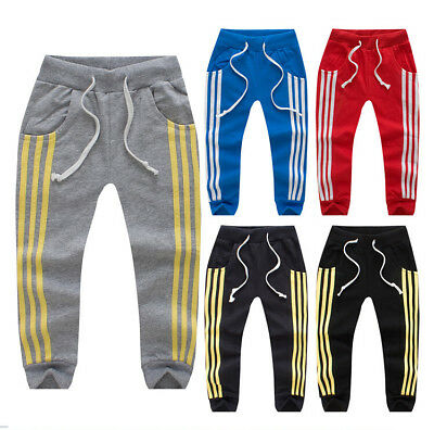 Kids Toddler Boys Girls Leisure Casual Joggers Track Pants Sport Trousers