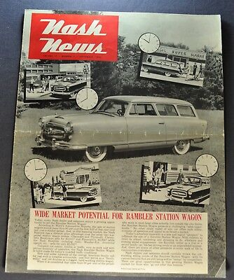 1953 Nash News Brochure Rambler Station Wagon Original 53