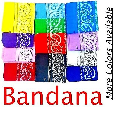 Bandana Paisley Cotton Design Headband Square Head Scarf Boy Girl Party Theme