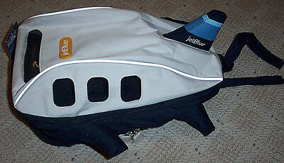 NWT 2008 JetBlue Airlines Kids Airplane Shaped Backpack - Rare Collectible
