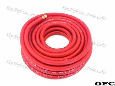 25 /' ft 2//0 Gauge AWG 12.5/' BLUE 12.5/' RED Power Ground Wire Sky High GA ft