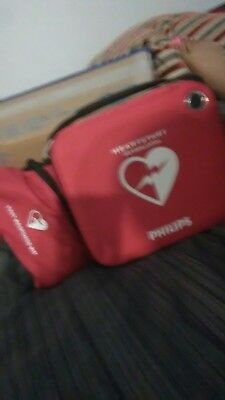 Philips HeartStart Home AED Defibrillator with Red Case