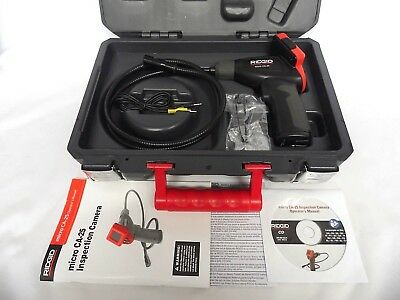 Rigid Micro CA25 Inspection Camera Hand Held w/ Hard Case