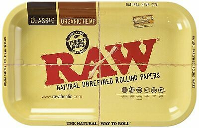 RAW Metal Rolling Tray Small 11 x 7 Inch Tobacco Cigarette Rolling Tray New