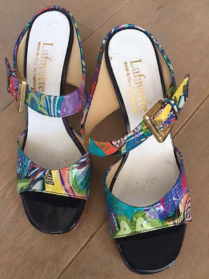 italian colorful leather high heels sandales