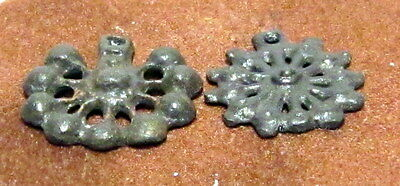 Amazing Medieval Or Post-Medieval Two Bronze Pendant  # 4C