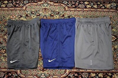 c6dffba2666e Lot of 3 Nike Reebok Shorts Youth Size 6-7 Gray Blue Active Athletic School