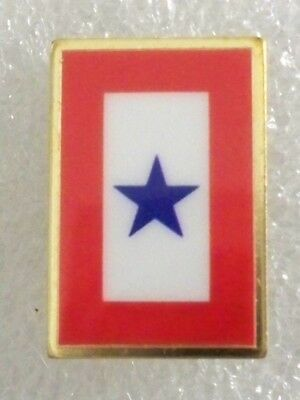 Blue Star pin,great for Mom/Dad,in support of son/daughter in military,USA made