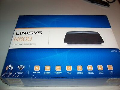 Linksys N600 Dual Band Wi-Fi Router 2.4 and 5 Ghz E2500 300mbps
