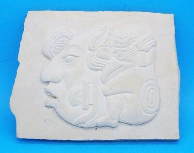 Souvenir Carving / Tile Purchased at Tulum Market in Mexico - 1981