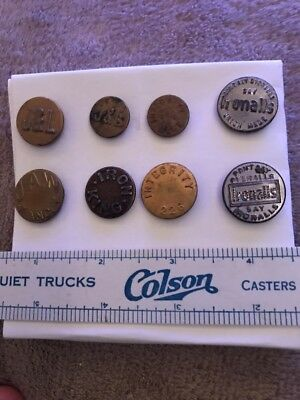 8 Overalls Work Clothes Buttons- Ironalls Integrity, &more- Lot 66