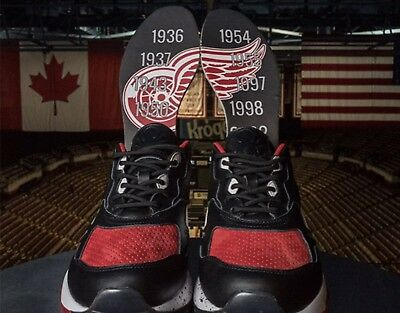 0c45ef3d0dd72a REEBOK BURN RUBBER Detroit Red Wings Bolton Bs6917 Size 12 -  119.99 ...