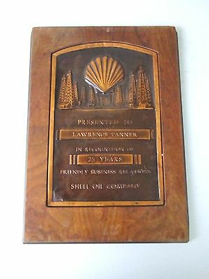 Vintage Shell Oil Company 25 Years Service Award, Lawrence Tanner