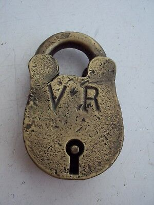 Antique Vintage Brass Padlock Victorian Railways  Collectable Display