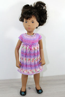 """Knitted dress for Sasha dolls (16""""- 17""""). Knitted outfit for doll. Dolls clothes"""