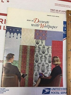 Vintage Leaflet Booklet How To Decorate With Wallpaper 1965