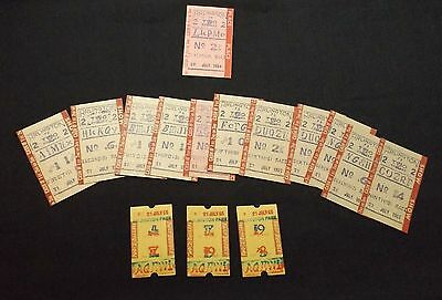 Lot of 15 Arlington Park Illinois Horse Racing Used Tickets from 1964 and 1965