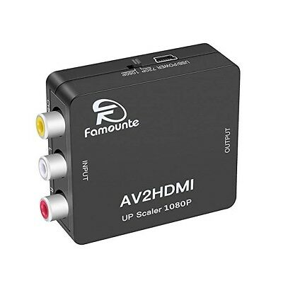Composite to HDMI Converter 3RCA/AV/CVBS/Full HD 720P/1080P Video