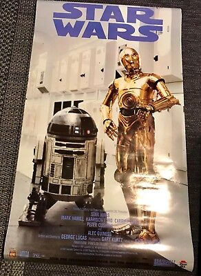 Vintage 1997 Pizza 🍕 Hut Star Wars Poster with original script from the movie.