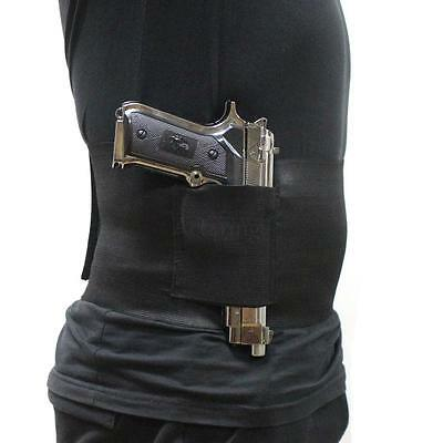 Slim Wrap Concealed Carry Ultimate Belly Band Holster Mag Pouch Waist 30-37 inch
