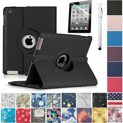 360 Rotating Case Smart Cover with Screen Protector Stylus Stand for iPad 2 3 4