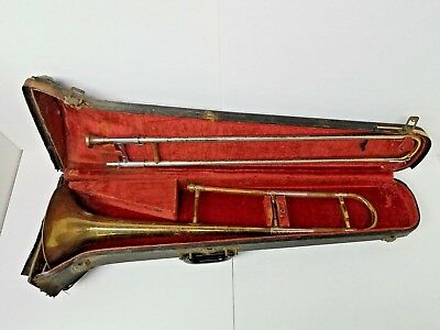Vintage Antique Grenadier Trombone In Original Case