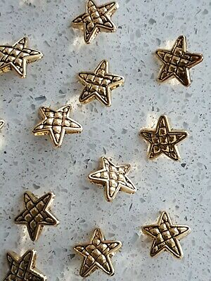 Lot of 10x Brand New Gold Star Vintage sewing buttons