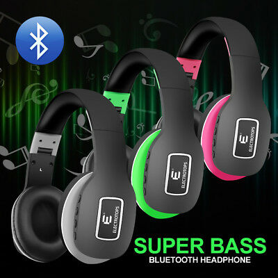 Wireless Bluetooth Headphones Over Ear with Mic Stereo Active Noise Cancelling
