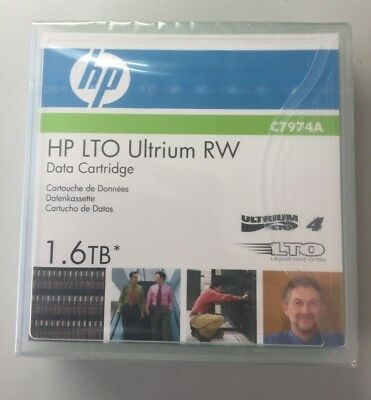 New HP Original LTO-4 Ultrium 800Gb/1.6Tb R/W Data Cartridge C7974A