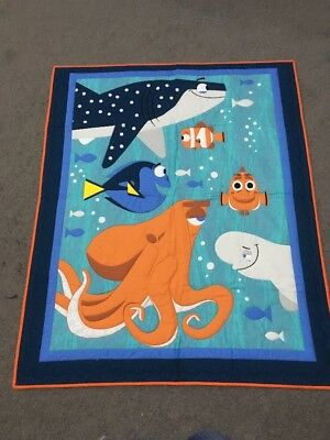Brand New Gorgeous Handmade Finding Nemo Baby Quilt Or Play Mat