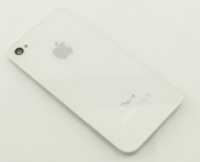 Apple BACK COVER WHITE GLASS IPH4SW-GSM-BACK